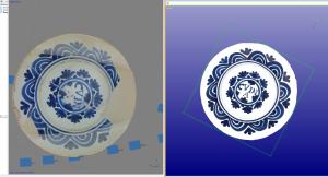Fotogrametria i reconstrucció d'un plat de ceràmica